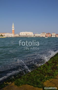 View From San Giorgio Maggiore To St Mark's Campanile Bell Tower In Venice Italy
