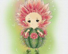 Kreuz Stich Chart Muster Blume Sprites von LenaLawsonNeedleArts