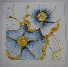 EDU Flowers Gold Work Embroidery | Gold work embroidery | silk shading goldwork flower tutorial ...