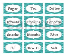 Polka Dot Custom Printable Labels (Set of 12 ) $3.25