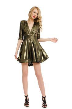 Order here www. Golden Dress, Mini, Dresses, Fashion, Vestidos, Moda, Fashion Styles, Dress, Fashion Illustrations
