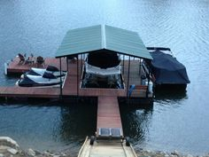 Covered dock for the lake