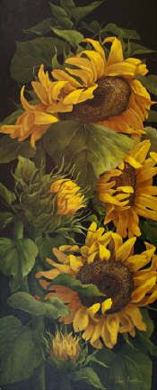 SUNFLOWERS I SHOWPIECE by Page Ough