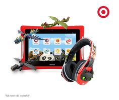 "You can now play along with your favorite DreamWorks characters like Toothless on the Nabi 8"" DreamTab! Bring Toothless to life with Morpho-Pods or instantly transform the look of your nabi Headphones with the How To Train Your Dragon Paper FX Headphone Wrap and 3D KINABIs.The DreamTab and all accessories are items available at Target."