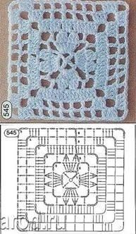 Quick handmade gifts - Such a beautiful crochet pattern for this one . Crochet Mandala Pattern, Granny Square Crochet Pattern, Crochet Blocks, Crochet Diagram, Crochet Stitches Patterns, Crochet Chart, Crochet Squares, Knitting Patterns, Granny Squares