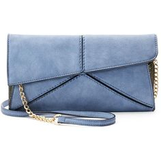 Mellow World Paulina Crossbody Clutch ($48) ❤ liked on Polyvore featuring bags, handbags, clutches, crossbody handbags, metallic crossbody, hand bags, crossbody hand bags and blue crossbody