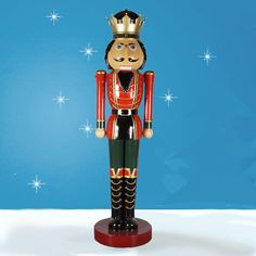 Our latest product introduction, the enormous 12 foot Nutcracker King, item 37001, is an example of our team in action. Claire provide the original design and the factory sculpted the figure which Claire fine tuned. The factory then produced the mold and created the prototype colors and decorations based on Claire's design.