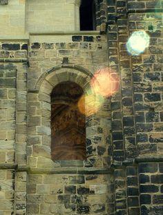 Sunlight through the window at Kirkstall Abbey