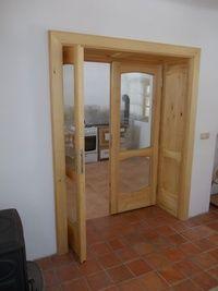 Dvoukřídlé dveře - prosklené