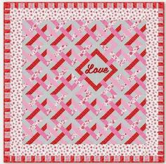 = free pattern = Surrounded by Love quilt by Deb Strain for Moda Fabrics, featured at Quilt Inspiration