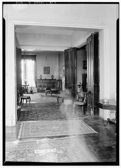 7.  Historic American Buildings Survey W. N. Manning, Photographer, January 4, 1935. VIEW ACROSS DRAWING ROOMS AND HALLWAY. - Dr. E. W. Daugette House, 601 North Pelham Road, Jacksonville, Calhoun County, AL