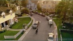 Wisteria lane, from Desperate Housewives. Also known as Colonial Street in Hollywood. I want to live in a neighborhood exactly like this. I hope they're real.