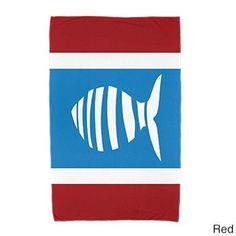 E by Design 30 x 60-inch, Puzzle Fish, Print Beach Towel