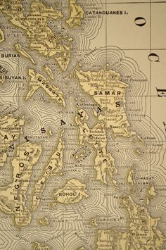Antique Map Philippines Philippine Islands by MapsBooksEphemera Vintage Maps, Antique Maps, Philippine Map, Nautical Quilt, Asia Map, Architectural Prints, Old Maps, Cactus Print, Philippines Travel