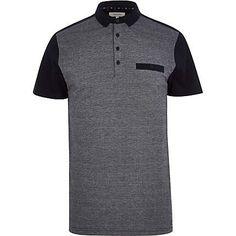 Navy colour block polo shirt £8.00