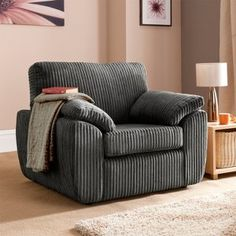 Keswick Armchair in Black | View All Living Room | George at ASDA