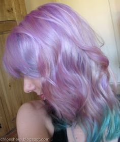 My Mermaid Hair! Lilac and Pastel Turquoise Ombre this is how it's done! quick, simple and cheap.... oh yeah and prettiful!