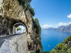 Driving south from Sorrento to Salerno, while channeling your inner Marcello Mastroianni. Getty