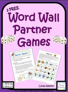 Here are two free partner games for your young students. They'll get lots of practice reading and writing the words on your own Word Wall. Although aimed at first and second grade, these activities are easily extended to kindergarten (early sight words) and third through fifth grade (subject area Word Walls and even the Fifty Nifty Thrifty). Included are Secret Square and Penny Toss.  These games are a sample from Word Wall Partner Activities.  Thanks! Linda Nelson Primary Inspiration Follow me on Pinterest