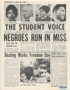 Voice, a publication of the Student Nonviolent Coordinating Committee ...