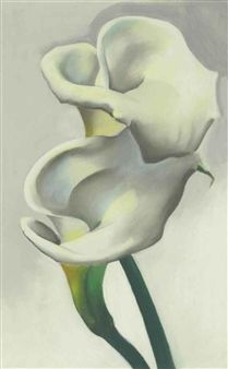 Two Calla Lilies Together by Georgia O'Keeffe, 1923