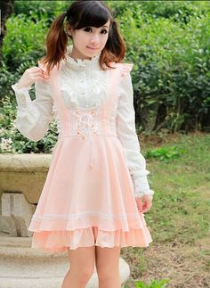 Clearance Sale: College School Style Sweet Lolita Salopette >>> http://www.my-lolita-dress.com/college-school-style-sweet-navy-blue-lolita-salopette-q-48 [ONLY $19.99]