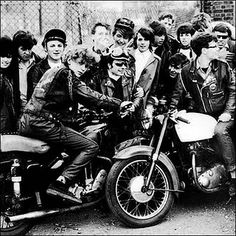 """Young people started to meet at the cafe with their motorcycles and listen to rock'n'roll and bands and motorcycle enthusiast groups formed there. The Ace Cafe was immortalised as a location of the 1964 film The Leather Boys, a notable edition to the """"kitchen sink"""" drama."""