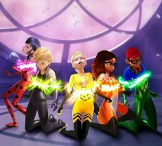 What's with the extra superheroes. And it would be cool if this happened, then they somehow got their miraculous