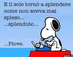Snoopy Love, Snoopy And Woodstock, Funny Video Memes, Stupid Funny Memes, Italian Humor, Snoopy Quotes, Text Quotes, Betty Boop, Girl Humor