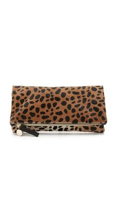 60a7c76df649 Clare V. Supreme Haircalf Fold Over Clutch  275 I love my Chico s haircalf  leopard much