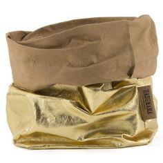 Uashmama Papírový sáček L zlato-písková