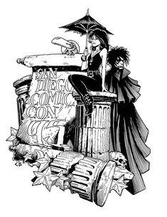 Sandman and Death by Chris Bachalo