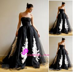 Vintage Black And White 2016 A-Line Lace Wedding Dresses with Detachable Train Over Skirts Strapless 3D-Floral Appliques Mermaid Bridal Gown Online with $155.84/Piece on Xiaoxiao_2016's Store | DHgate.com