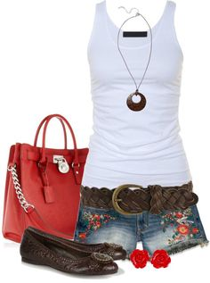 Love love love the shorts cute outfit, but better with sandals