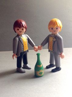 A personal favourite from my Etsy shop https://www.etsy.com/listing/480641721/groom-and-groom-playmobil-geobra-wedding