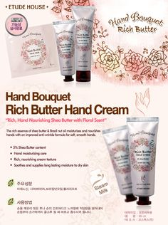 Etude House Korea Jakarta: Etude House Hand Bouquet Rich Butter Hand Cream 50...