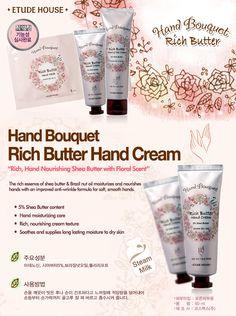 Etude House Korea Jakarta: Etude House Hand Bouquet Rich Butter Hand Cream 50...