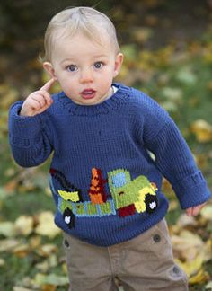 Free+Knitting+Pattern+-+Toddler+&+Children's+Clothes:+Truck+Toddler+Sweater