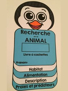 RECHERCHE SUR UN ANIMAL: Livre à cachettes: Ce petit livre permettra aux élèves… Grade 2 Science, Primary Science, Science Lessons, Teaching Science, Science Education, Science Activities, Science Projects, Classroom Activities, Teaching Tools