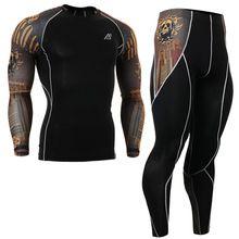 2016 crânios de ouro dos homens de impressão de fitness yoga definir  sportwear para fitness roupas ternos conjuntos de roupas roupas de  ginástica yoga ... 19adefea1