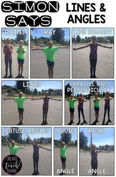 Lessons To Explore Geometry Engaging Lessons to Explore Geometry! Simon Says with Lines & Angles!Engaging Lessons to Explore Geometry! Simon Says with Lines & Angles! Math Strategies, Math Resources, Math Activities, Math Games, Geometry Activities, Math Tips, Comprehension Strategies, Reading Comprehension, Teaching Geometry