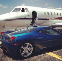 Ferrari & private jet