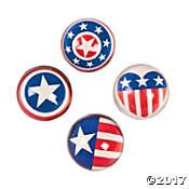 Red, White & Blue Bouncing Balls