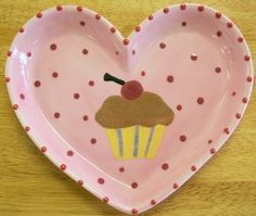 Pottery Plate Paint Ideas | Cupcake Plate | Creative pottery Painting Ideas