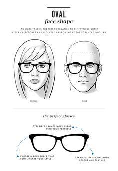 c1f89b4172 Face Shape Guide for Glasses -. Eyeglasses For Oval ...