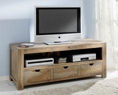 Media unit? Diy Furniture Tv Stand, Living Furniture, Home Furniture, Tv Stand Wayfair, Small Media Rooms, Solid Wood Tv Stand, Diy Zimmer, Zen, Large Family Rooms