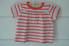 Tee-shirt en coton épais rayé rose bonbon Petit Bateau - 18M