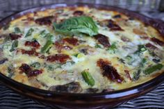 End of the week crustless quiche