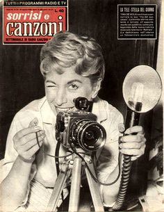 "Tina De Mola - Cover of Italian showbiz weekly magazine ""Sorrisi e Canzoni"" (Smiles and songs) (10th August 1958)."