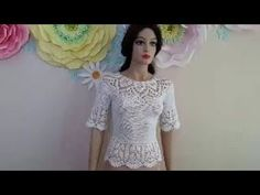 How to Crochet a Lace Blouse - Part 1 - YouTube